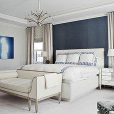 Transitional Bedroom by Eric Cohler Design