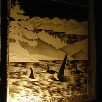 Etched /Sandblasted Glass Doors,Windows and Privacy Glass