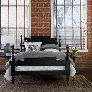 ニューヨークのトラディショナルスタイルのおしゃれな寝室のレイアウト