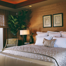 Tropical Bedroom by Willman Interiors / Gina Willman, ASID