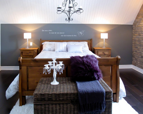 grey walls dark wood table gray wall with dark furniture houzz