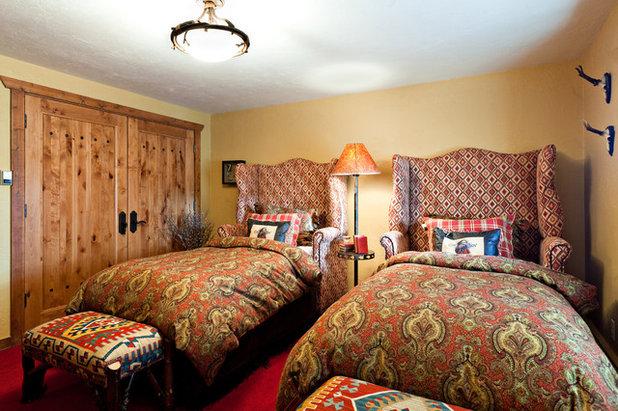 Rustic Bedroom by Monica Durante Interiors, Inc.