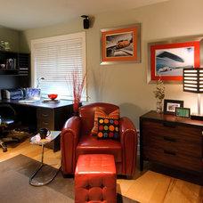 Eclectic Bedroom by Midori Yoshikawa Design Group
