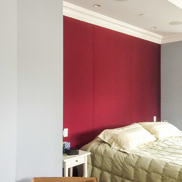 Fabric Covered Acoustic Wall Finishing for The Bedroom