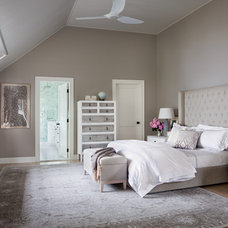 Transitional Bedroom by Stone Creek Builders