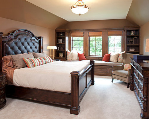 Dark wood bedroom furniture houzz for Dark brown bedroom designs