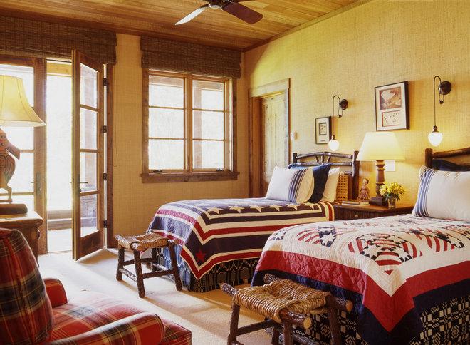 Rustic Bedroom by Tucker & Marks