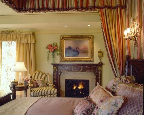 Mauve bedroom design ideas renovations photos with a standard fireplace - Mauve bedroom decorating ideas ...