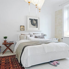 contemporary bedroom Fancy and Youthful Apartment in Sweden | Interior Design, Decorating, Furniture,