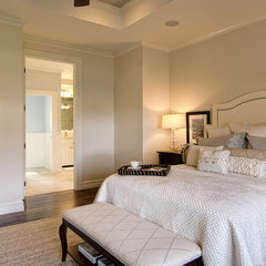 eclectic bedroom by Farinelli Construction Inc
