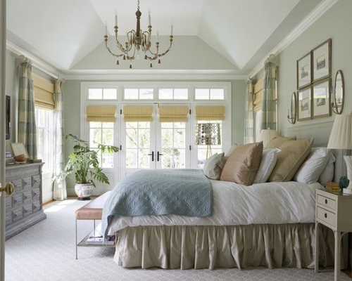 traditional bedroom ideas green. Exellent Green Photo Of A Traditional Bedroom In DC Metro With Grey Walls Carpet And  Floors To Traditional Bedroom Ideas Green