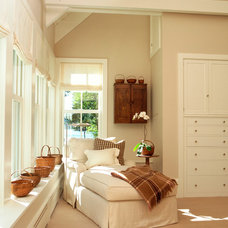 Farmhouse Bedroom by Wells & Fox Architectural Interiors