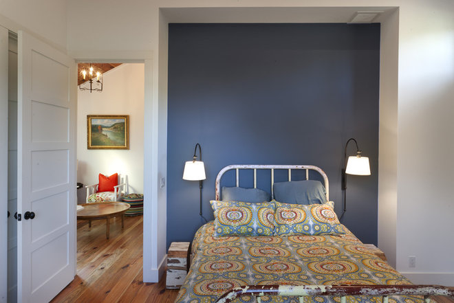Farmhouse Bedroom by Rauser Design