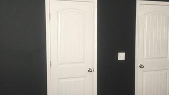 Faux Stripes & Chalkboard