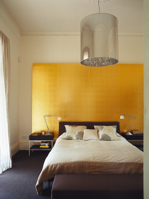 Gold Accent Wall Home Design Ideas Pictures Remodel And