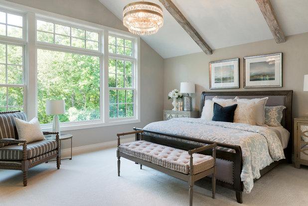 Transitional Bedroom by Landmark Building Contractors LLC