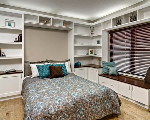 office murphy bed. inspiration for a large contemporary light wood floor and brown bedroom remodel in minneapolis with office murphy bed o