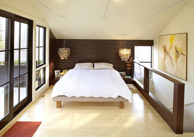 Eclectic Bedroom by Feldman Architecture, Inc.