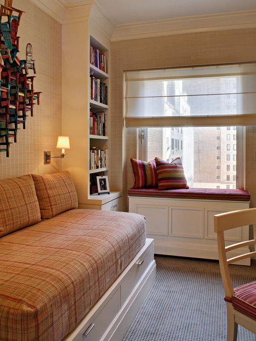 Inspiration for a small timeless guest carpeted bedroom remodel in New York  with beige walls. Sofa Bed Ideas   Houzz