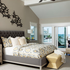 Beach Style Bedroom by Amy Tyndall Design