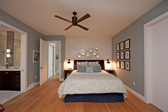 transitional bedroom Finding a Vintage Vibe with New Construction in Kelowna, BC