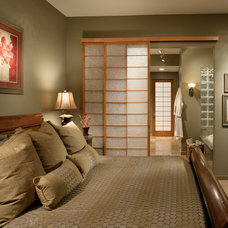 Asian Bedroom by Sandella Custom Interiors, LLC