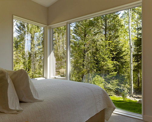 Small Trendy Bedroom Photo In Salt Lake City