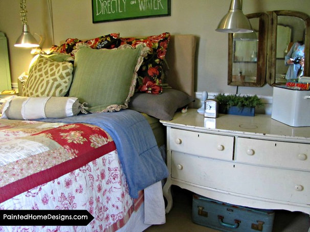 Eclectic Bedroom by The Painted Home