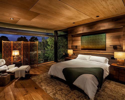 asiatische schlafzimmer mit dunklem holzboden ideen. Black Bedroom Furniture Sets. Home Design Ideas