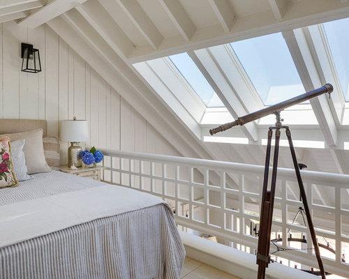 Camera da letto stile loft al mare Boston - Foto e Idee per Arredare