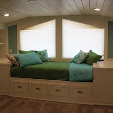 Transitional Bedroom by Kellogg Creek Cabinetry