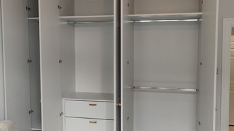 Floor to ceiling made to measure wardrobes