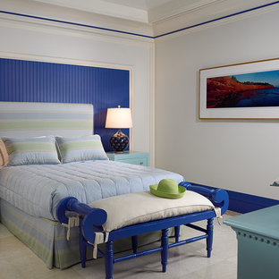 Island Style Bedroom Photo In Toronto With Blue Walls