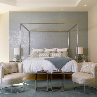 Trendy Carpeted Bedroom Photo In Miami With Beige Walls Save Florida Vernacular Key West Style Home