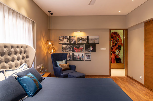 Indian Bedroom by SPACE 9 ARCHITECTS