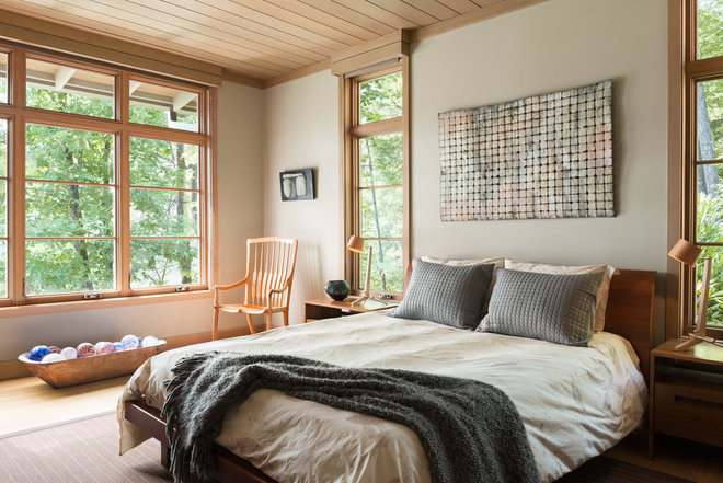 Rustic Bedroom by Samsel Architects