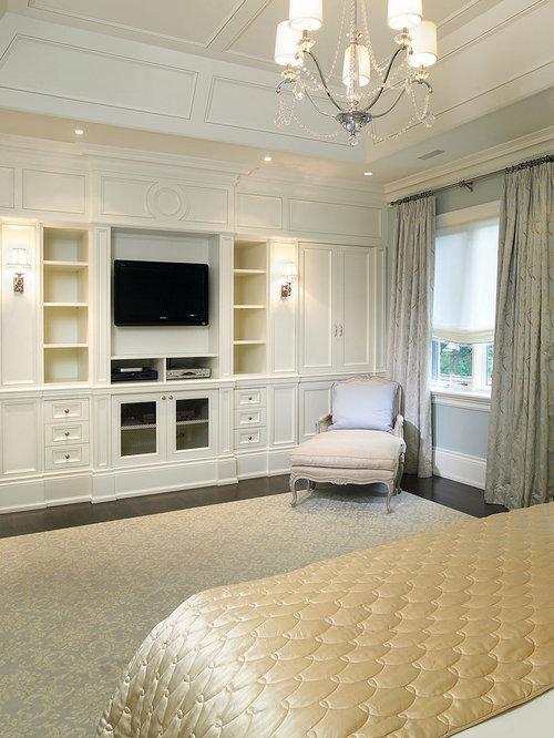 Traditional Dark Wood Floor Bedroom Idea In Toronto