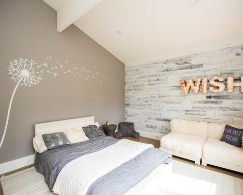 whitewash furniture. Example Of A Trendy Bedroom Design In Boston With Beige Walls Whitewash Furniture