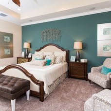 Transitional Bedroom by Clausen Residential