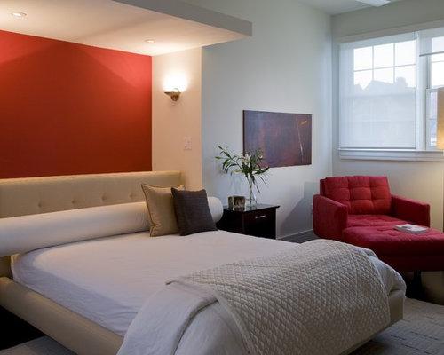 houzz  red bedrooms ideas design ideas  remodel pictures, Bedroom decor