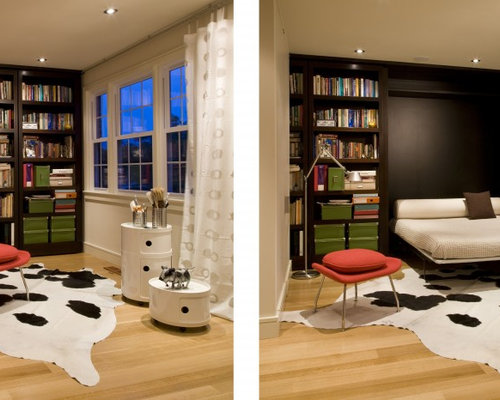 bookshelf murphy bed | houzz
