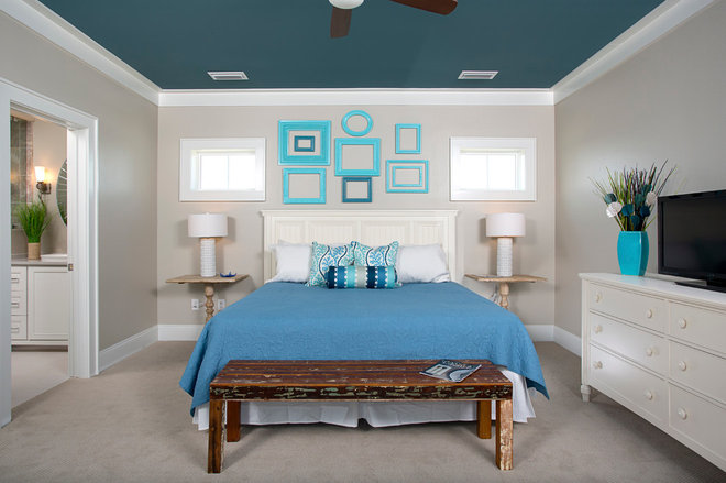 Heads-Up Hues: 10 Bold Ceiling Colors