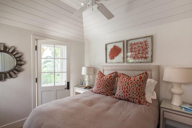 Beach Style Bedroom by Laura Hay DECOR & DESIGN Inc.