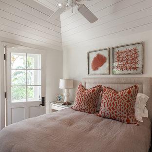 Bedroom - beach style bedroom idea in Toronto with beige walls