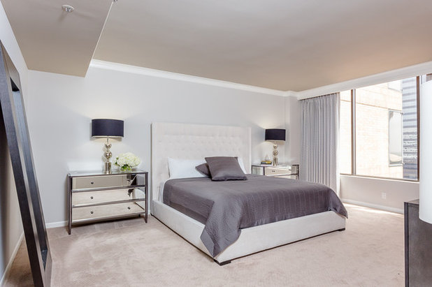 Cute Transitional Bedroom by Chase Dowell Interior Design