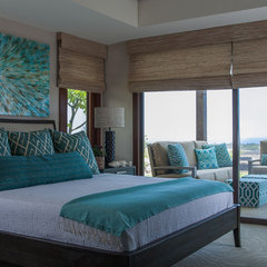 eclectic bedroom by Henderson Design Group