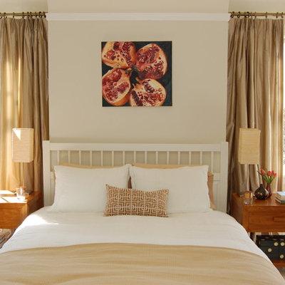 Bedroom - contemporary bedroom idea in San Francisco with beige walls
