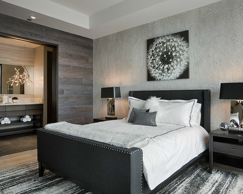 modern guest bedroom houzz. Black Bedroom Furniture Sets. Home Design Ideas