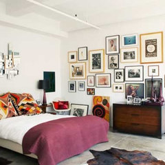 eclectic bedroom frames