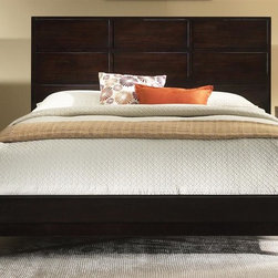 Liberty Furniture - Franklin Panel Bed (Queen) - Choose Size: QueenHook-on rail system. Center supported slat system. Splay leg design. Warranty: One year. Made from solid hardwood, Kloin and birch veneers. Merlot finish. Made in Vietnam. Queen: 85 in. L x 65 in. W x 50 in. H (105 lbs.). King: 85 in. L x 82 in. W x 50 in. H (122 lbs.)